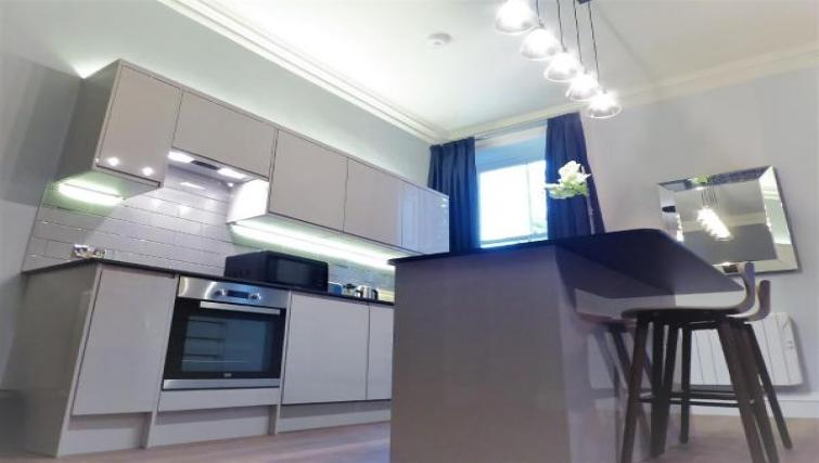 Modern kitchen atClaremont Apartments - Citybase Apartments