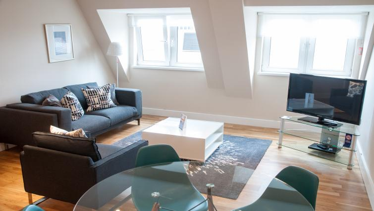 Living room at Clarendon Pepys Street - Citybase Apartments