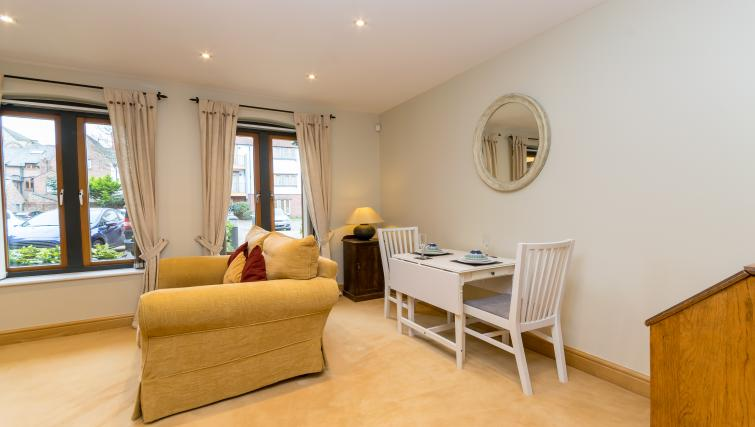Small table at Foregate Street Apartment - Citybase Apartments