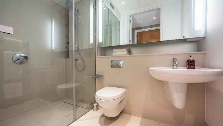 Sleek bathroom at the Acre House Apartments - Citybase Apartments