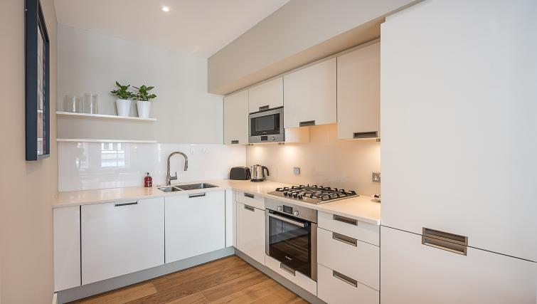 Sleek kitchen at the Acre House Apartments - Citybase Apartments