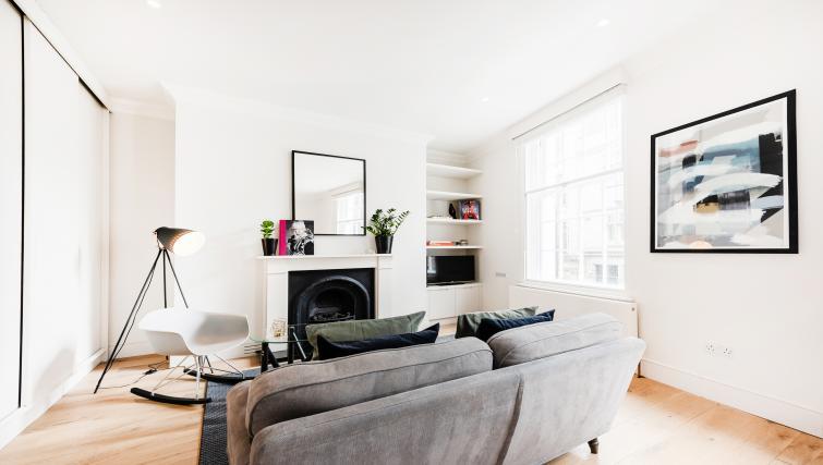 Sofa at Wardour Street Apartments - Citybase Apartments