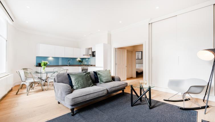 Living area at Wardour Street Apartments - Citybase Apartments
