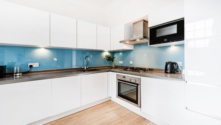 Modern kitchen at Wardour Street Apartments - Citybase Apartments