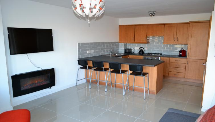 Kitchen area at the Belfast Penthouse & Apart - Citybase Apartments