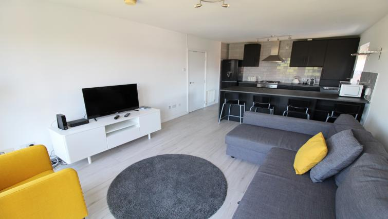 TV at the Belfast Penthouse & Apart - Citybase Apartments
