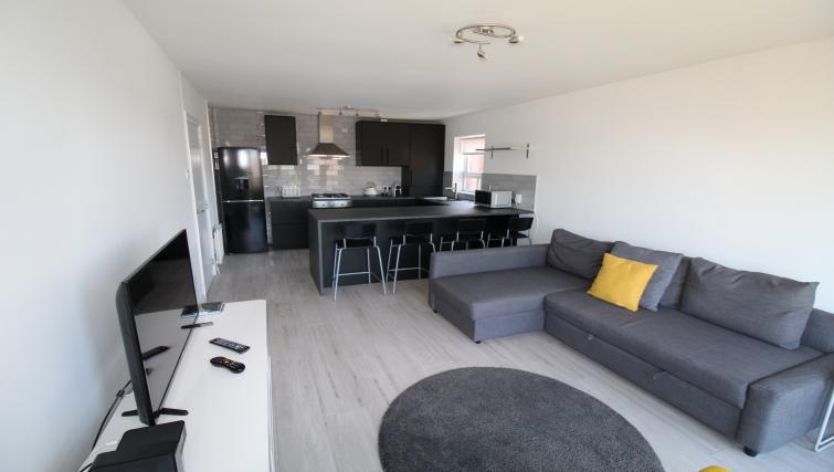 Sleek kitchen at the Belfast Penthouse & Apart - Citybase Apartments