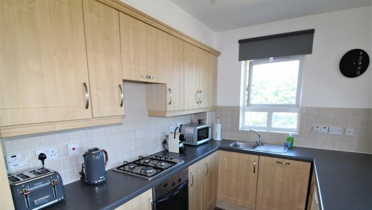 Kitchen at the Belfast Penthouse & Apartments - Citybase Apartments