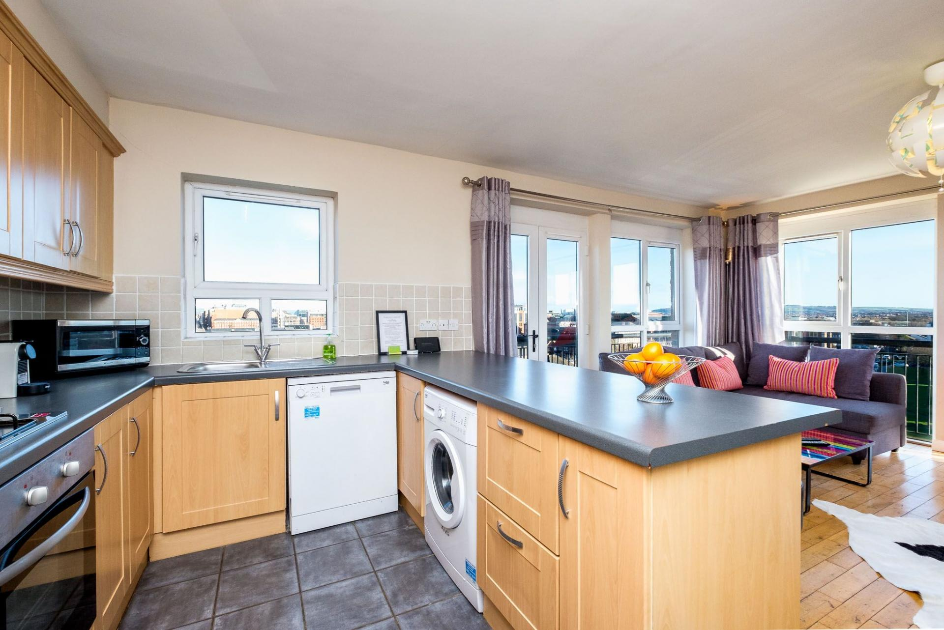 Modern kitchen at Belfast Penthouse & Apartments, Centre, Belfast - Citybase Apartments