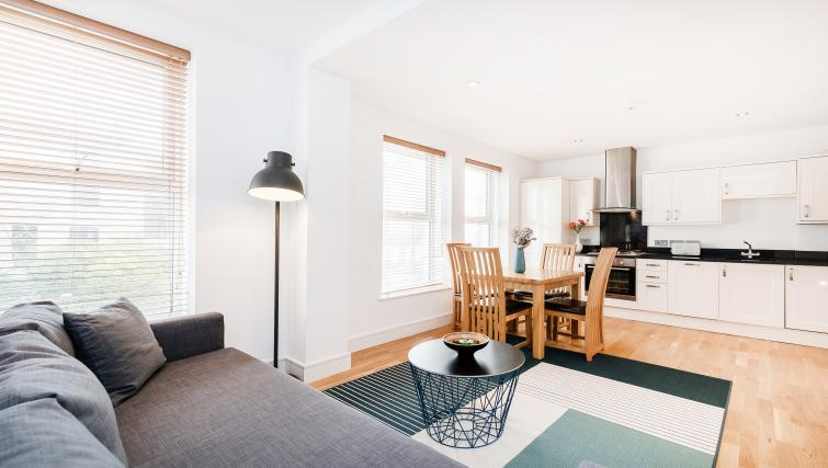 Living room area at the Kentish Town Apartment - Citybase Apartments