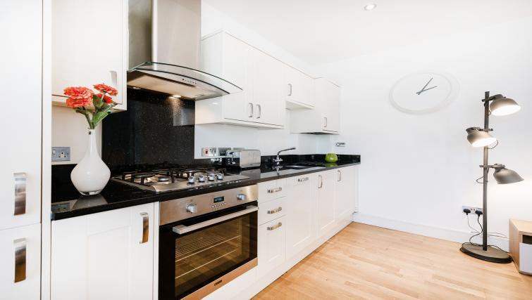 Sleek kitchen at the Kentish Town Apartment - Citybase Apartments