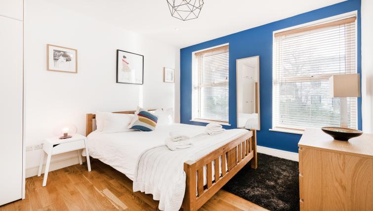 Bedroom decor at the Kentish Town Apartment - Citybase Apartments