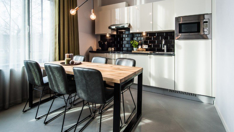 Kitchen at Eastern Docklands Apartments, Amsterdam - Citybase Apartments