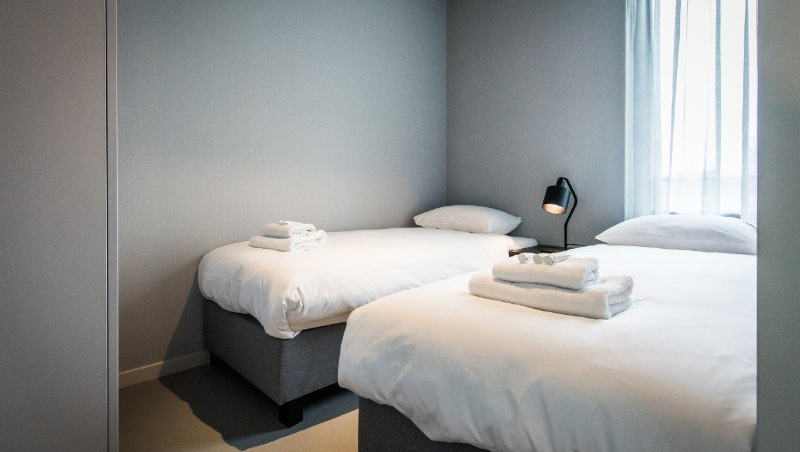 Twin beds at Eastern Docklands Apartments, Amsterdam - Citybase Apartments
