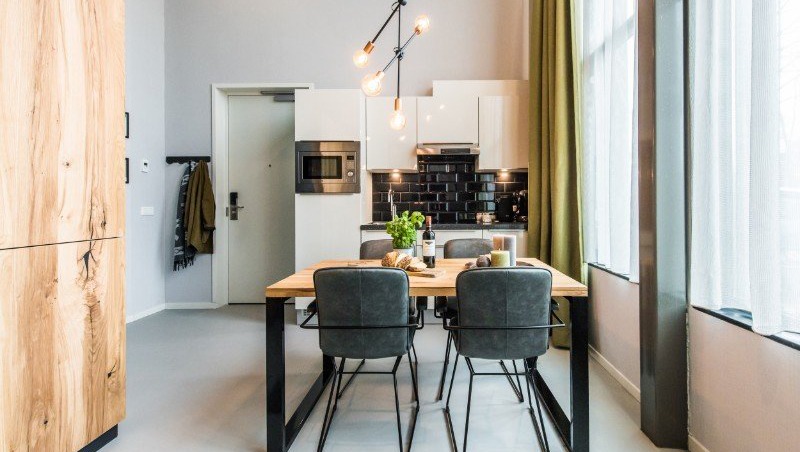 Kitchen facilities at Eastern Docklands Apartments, Amsterdam - Citybase Apartments