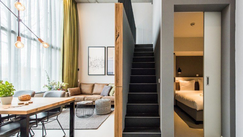 Staircase at Eastern Docklands Apartments, Amsterdam - Citybase Apartments