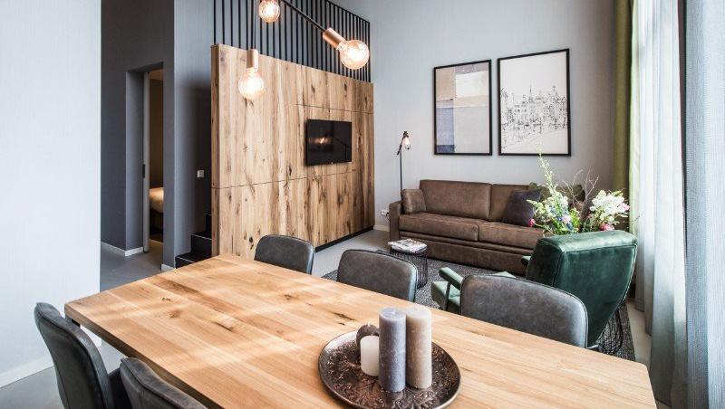 Sofa at Eastern Docklands Apartments, Amsterdam - Citybase Apartments