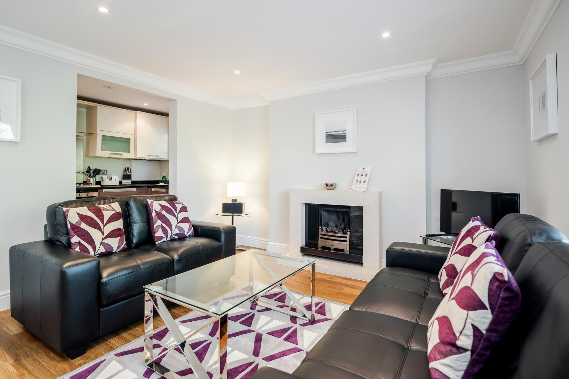 Living area at Little Orchard Place Apartments, Centre, Esher - Citybase Apartments