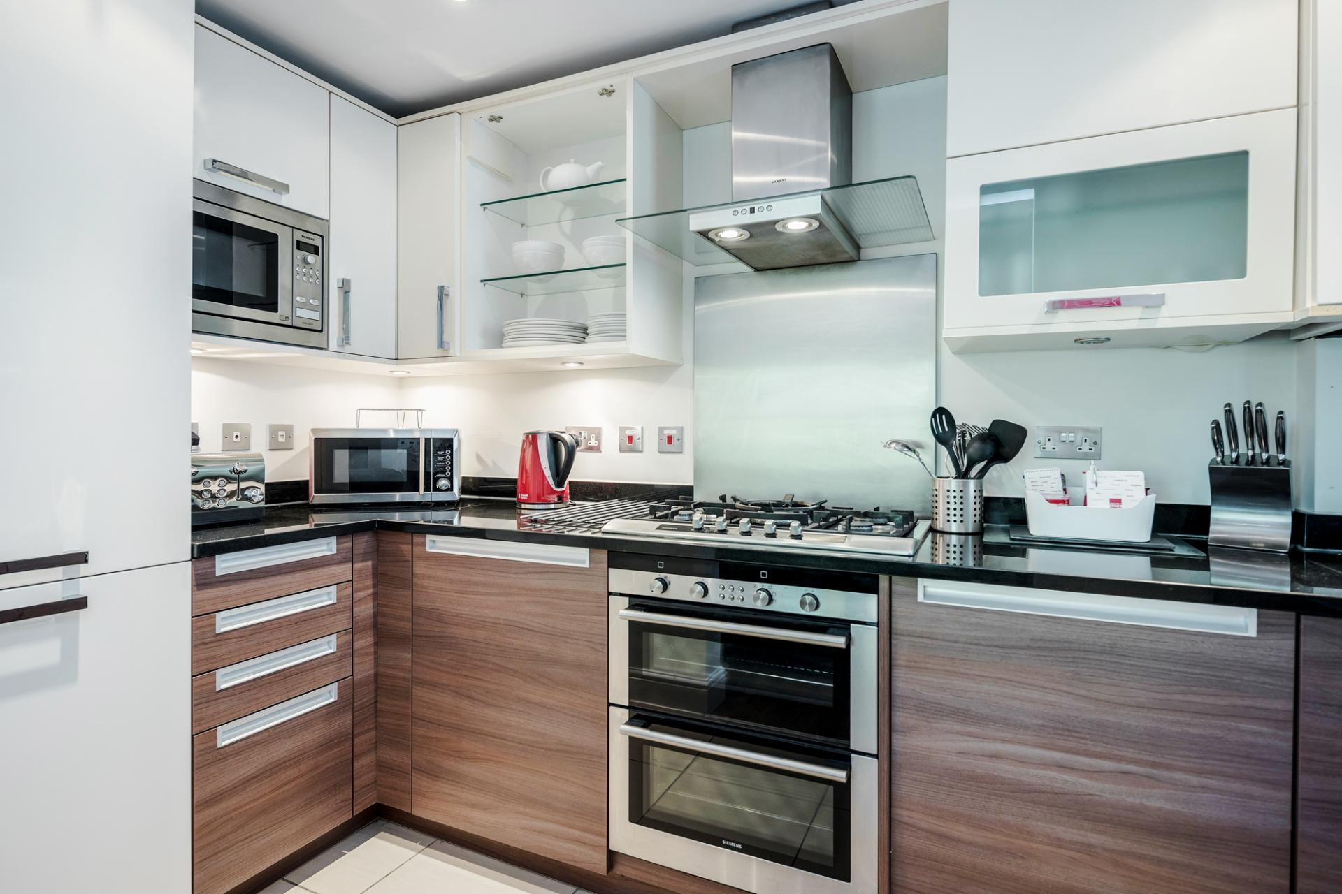 Kitchen at Little Orchard Place Apartments, Centre, Esher - Citybase Apartments