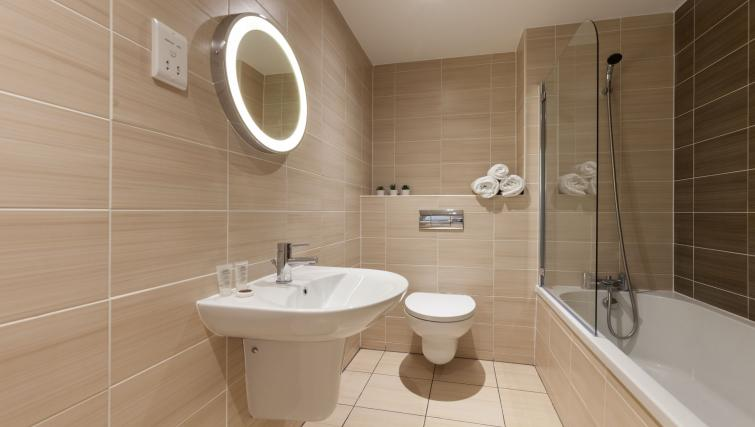 Bathroom at KSpace @ The Point Apartments - Citybase Apartments