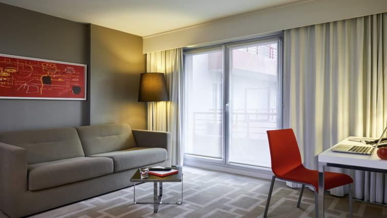 Living room at the Hipark by Adagio Marseille - Citybase Apartments