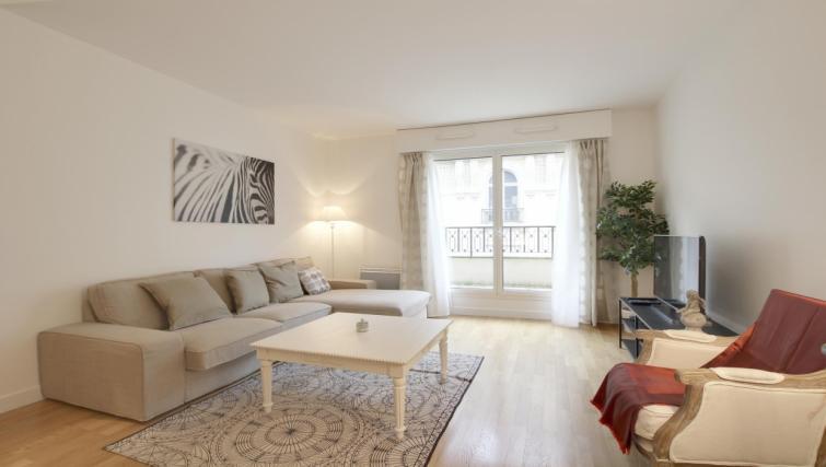 Living area at the Leonard de Vinci Apartment - Citybase Apartments
