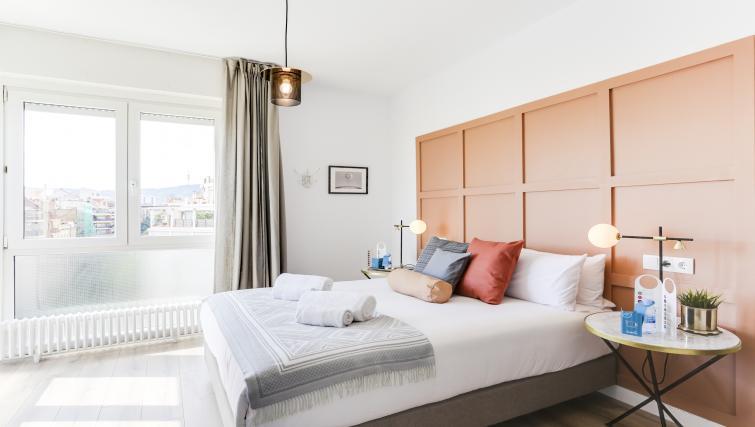 Bright bedroom at Eixample Borrell Apartment - Citybase Apartments