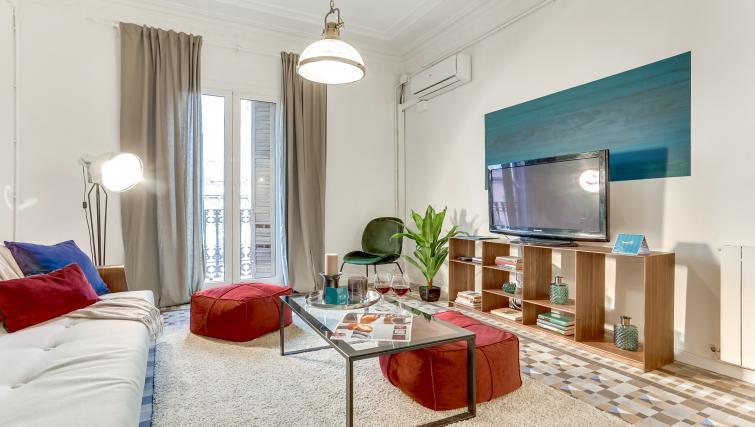 Living room at Aragon Apartment - Citybase Apartments