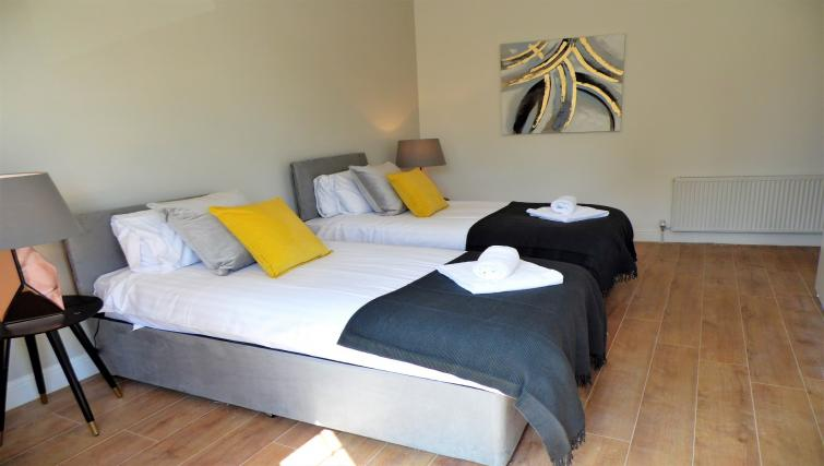 Bright bedroom at Langlands House - Citybase Apartments