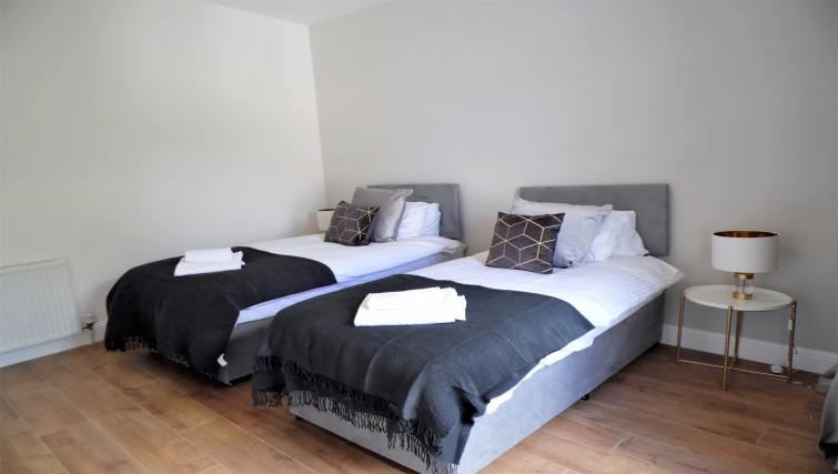 Modern bedroom at Langlands House - Citybase Apartments