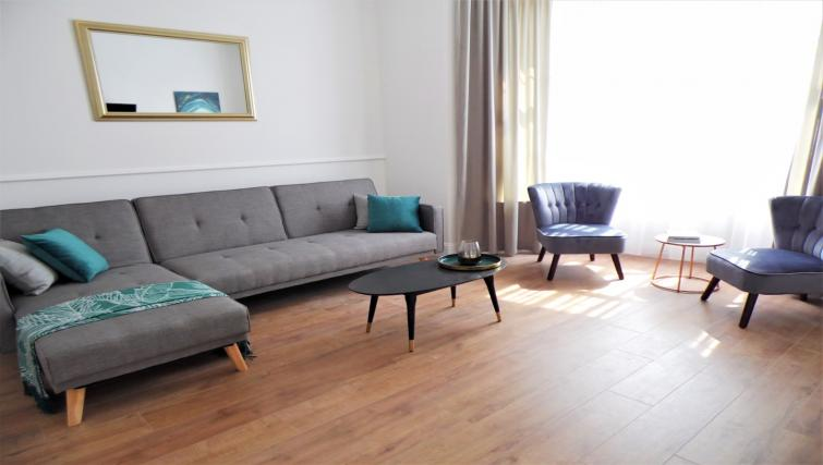 Living room at Langlands House - Citybase Apartments