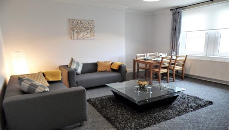 Living room at Calder House - Citybase Apartments