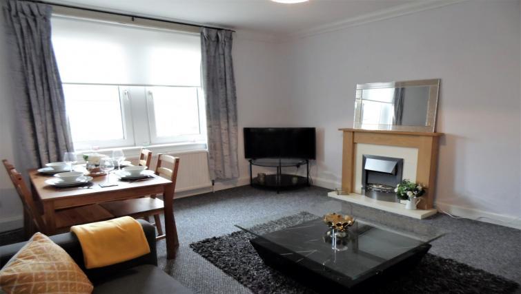 Spacious living area at Calder House - Citybase Apartments