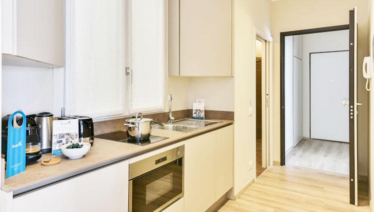 Modern kitchen at Duomo Apartments - Citybase Apartments
