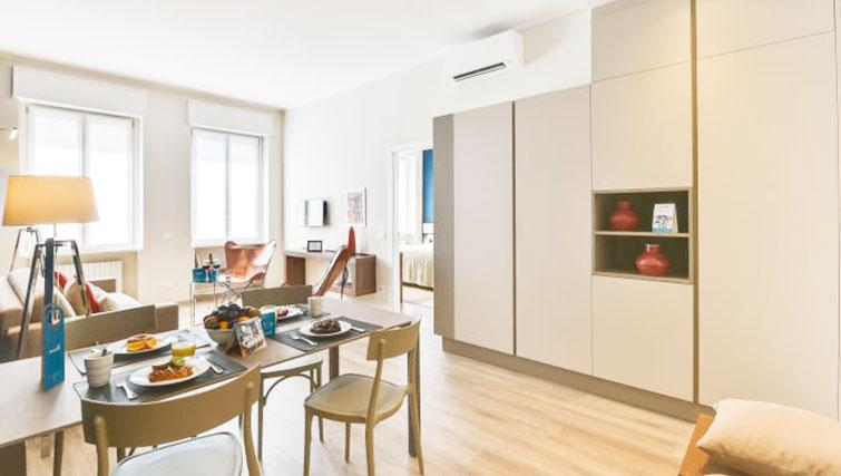 Stylish lounge at Duomo Apartments - Citybase Apartments