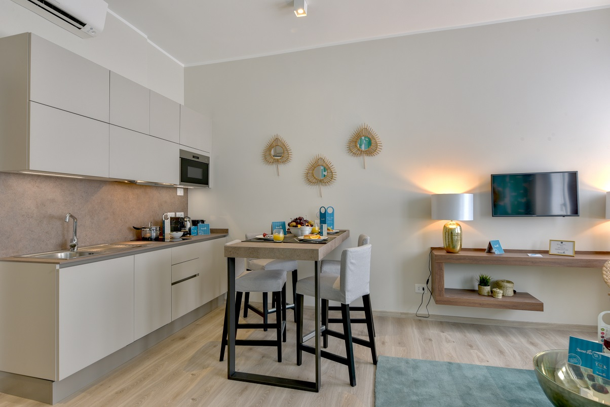Modern living area at Duomo Apartments - Citybase Apartments