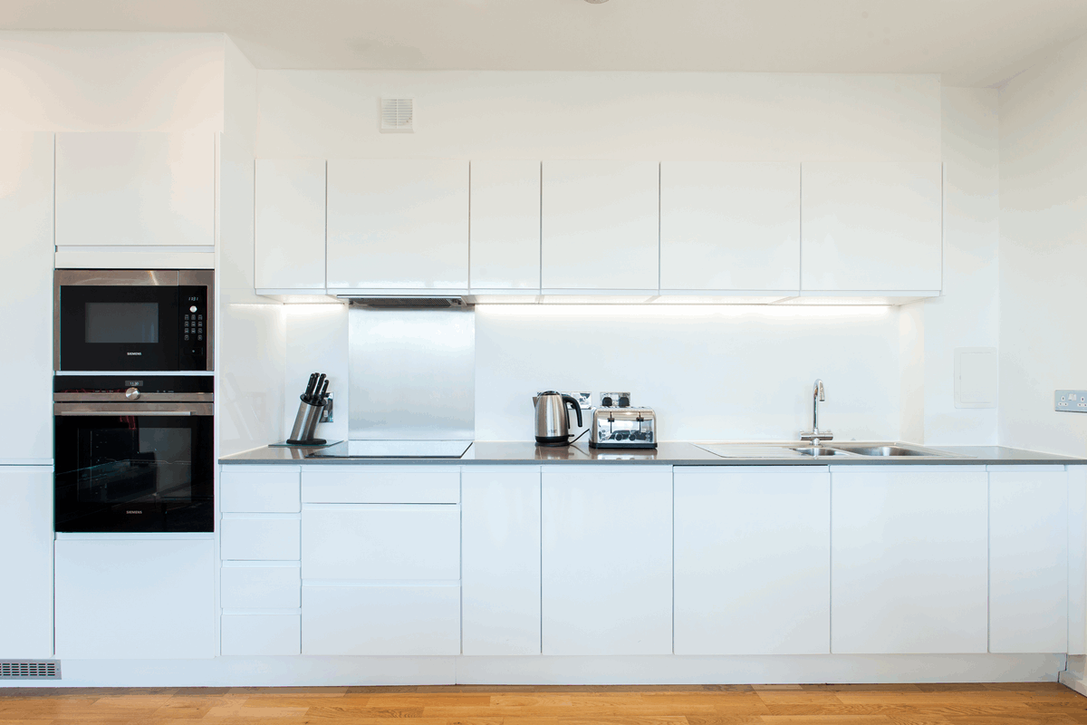Kitchen at Clover Court Apartments - Citybase Apartments