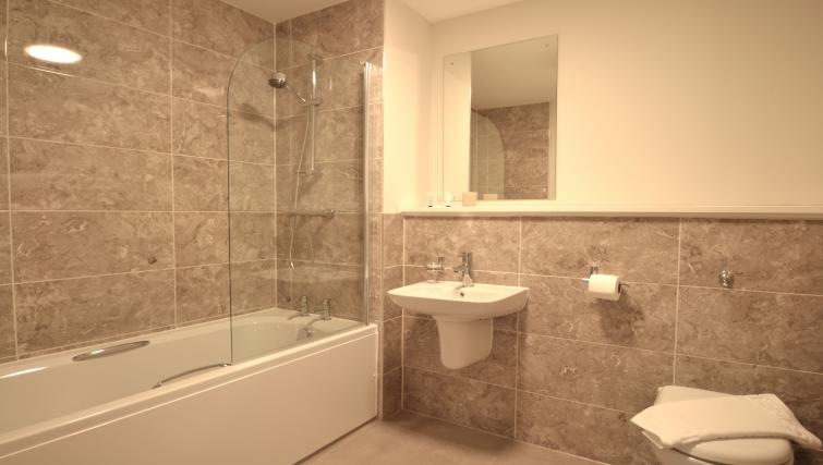 Bathroom at Bridgewater Point Apartments - Citybase Apartments