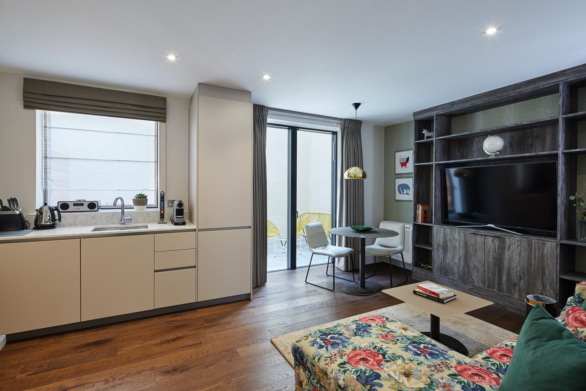 Dining area at 29-31 Cheval Place Apartments, Knightsbridge, London - Citybase Apartments