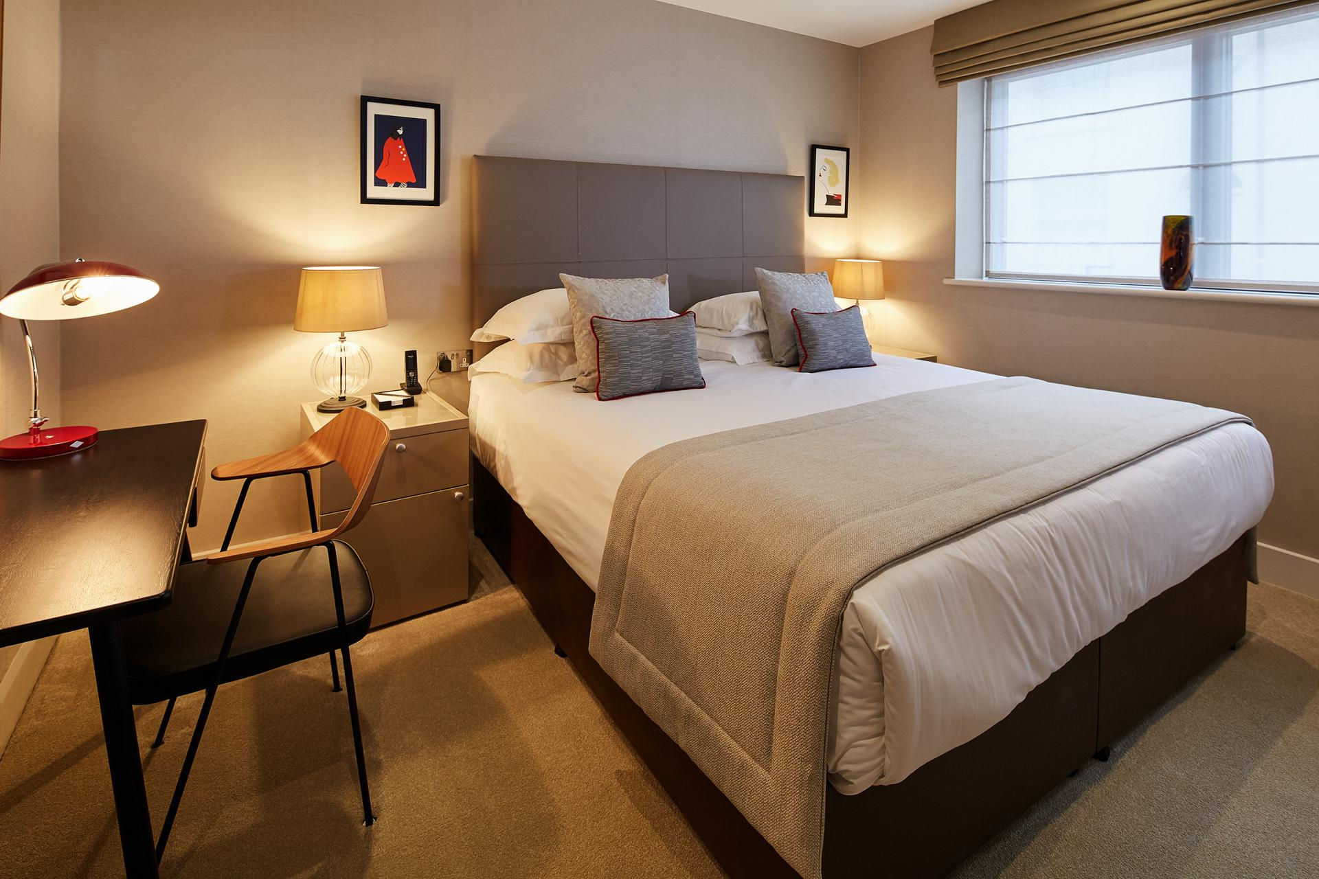Bedroom at 29-31 Cheval Place Apartments, Knightsbridge, London - Citybase Apartments