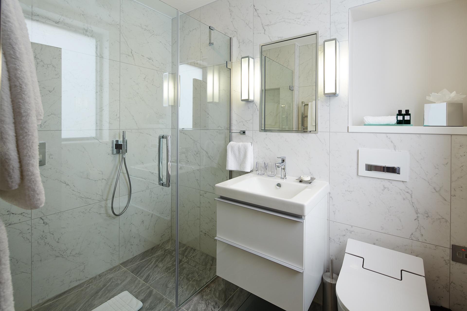Bathroom at 29-31 Cheval Place Apartments, Knightsbridge, London - Citybase Apartments