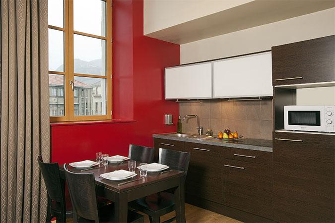 Kitchen at Residhome Caserne De Bonne - Citybase Apartments