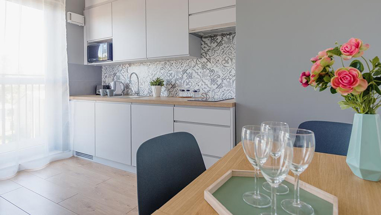 Kitchen at Bakalarska Serviced Apartment - Citybase Apartments