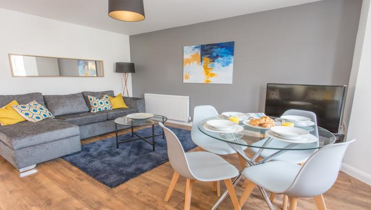 Living area at Rana Court Apartments - Citybase Apartments