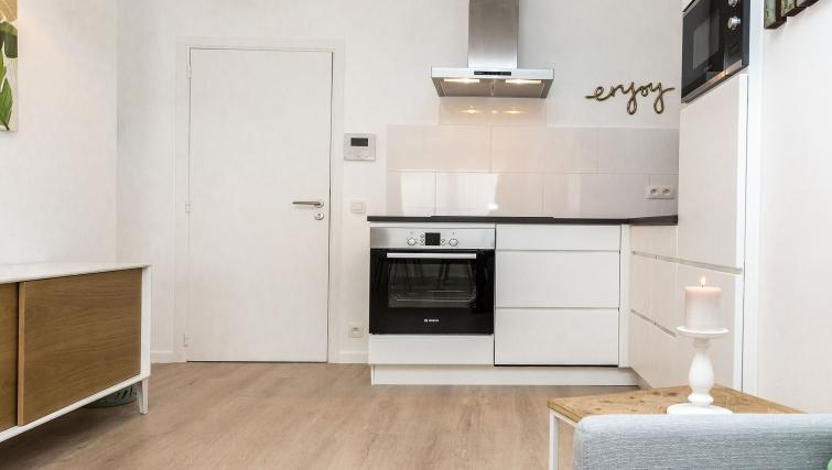 Modern kitchen at Avenue Michel Apartments - Citybase Apartments