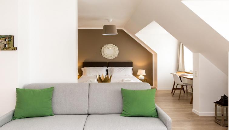 Sofas at Avenue Michel Apartments - Citybase Apartments