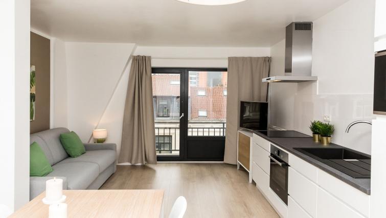 Bright kitchen at Avenue Michel Apartments - Citybase Apartments