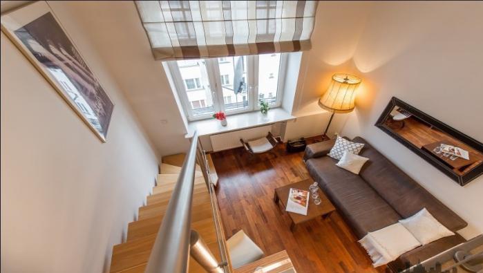 Lounge area at Hoza Apartment - Citybase Apartments