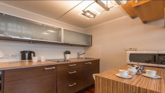 Kitchen at Hoza Apartment - Citybase Apartments