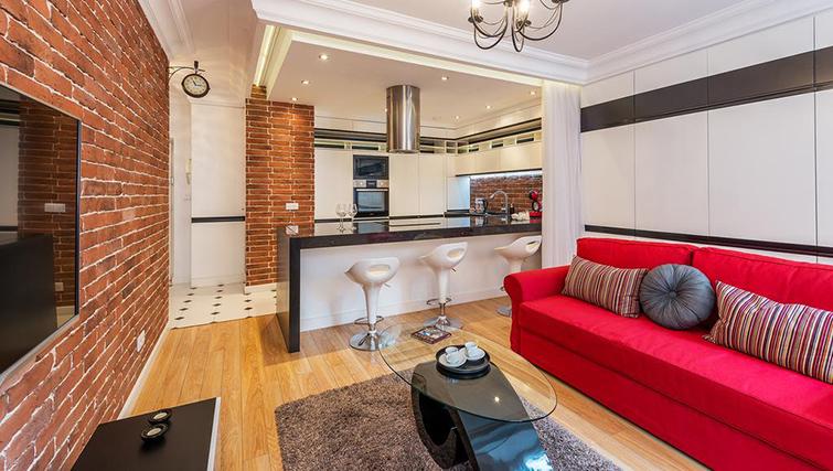 Living area at Swietojanska Aparmtent - Citybase Apartments